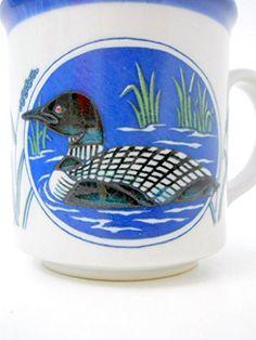 Loon Coffee Mug Black White Bird Blue Glazed Rim Interior... https://www.amazon.com/dp/B01JZNE9OU/ref=cm_sw_r_pi_dp_x_tvSLybC0R6NKV