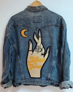 Custom Embroidery Embroidered Jacket Embroidered Shorts Vintage Clothing Trendy Clothing Aesthetic Clothing is part of Trendy Clothes Aesthetic - gypstitchembroidery Diy Outfits, Crop Top Outfits, Trendy Outfits, Trendy Clothing, Vintage Clothing, Hiking Outfits, Clothing Styles, Painted Denim Jacket, Painted Jeans