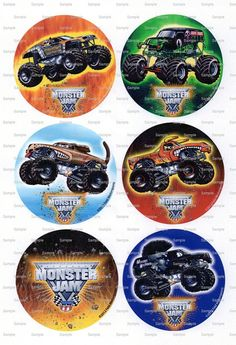 Monster Jam Birthday - Edible Cake and Cupcake Topper For Birthday's and Parties! - D7612 on Etsy, $7.66 AUD
