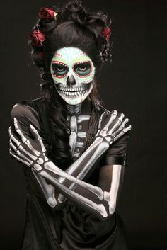 Love day of the dead makeup