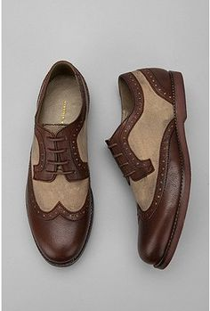 Hawkings McGill Canvas & Leather Brogue #shoes $78.00
