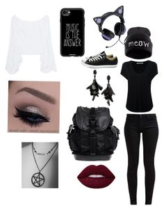 1 by aura-waltenbaugh on Polyvore featuring polyvore, fashion, style, Petersyn, Alexander Wang, 7 For All Mankind, Converse, Givenchy, Oscar de la Renta, Casetify and clothing