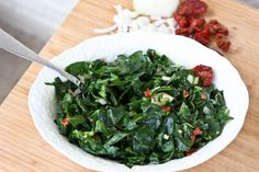 Delicious Marinated Raw Collard Green Salad. Did you know collards have more calcium than milk?