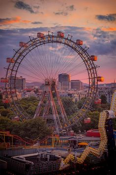Austria Travel Inspiration - Take a ride in the Giant Ferries Wheel at the Prater in Vienna, AUstria.