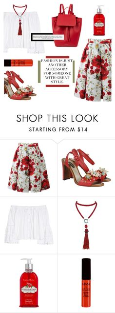 """""""'Sometimes, real superheroes live in the hearts of small children fighting big battles' - Unknown"""" by punkrockmeansfreedom ❤ liked on Polyvore featuring Dolce&Gabbana, Carolina Herrera, Marina J., Paige Denim, Crabtree & Evelyn, NYX, Mansur Gavriel and Whiteley"""