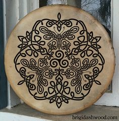 Celtic Butterfly Bodhran Drum Hand painted