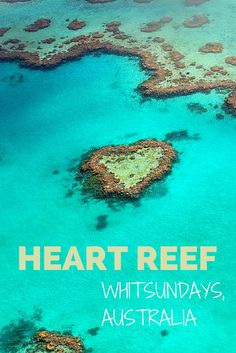 The spectacular Heart Reef is found in #Whitsundays, #Australia- click to find out the best way to see it! #travel