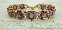 Linda's Crafty Inspirations: Pattern review - FAY Bracelet by Un-Roen Manarata. Links to Un-Roen's pattern on Etsy. 5.32 USD
