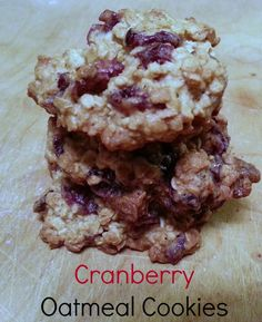 This Cranberry Oatmeal Cookie recipe uses low amounts of butter and sugar. Includes honey. #shop