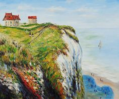 """""""Cliff at Dieppe"""" by Claude Monet created in 1882"""