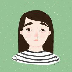 Illustration portrait. Girl illustration.Nur Ventura. Spring allergy #illustration #nurventura #portrait Spring Allergies, Portrait Illustration, Disney Characters, Fictional Characters, Portraits, Disney Princess, Digital Illustration, Faces, Fantasy Characters