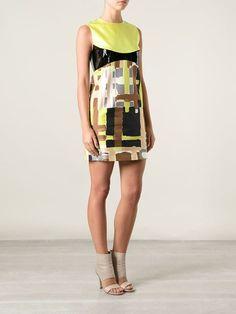 Dsquared2 Vestido Com Estampa Abstrata De Seda - Papini - Farfetch.com