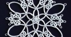 """This is the """"Two Tone Coaster"""" from Workbasket Magazine's book """"Tatting Patterns: The Classic Collection"""" (part of their Aunt Ellen's Treasu..."""
