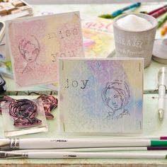 salt-sprinkled watercolors technique tutorial by Christen Hammons via Stampington.com