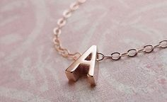 The Grommet team discovers personalized necklaces, rose gold jewelry from Olive Yew. A beautiful tiny rose gold letter necklace – rose gold initial on rose gold filled chain.