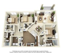 York Floor Plan: 3 bd / 2 ba - 1541 Sq. Ft. to 1653 Sq. Ft.