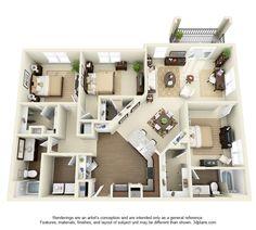 York Floor Plan: 3 bd / 2 ba - 1541 Sq. Ft. to 1653 Sq. Ft.