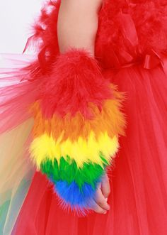 Paradise Parrot Feather Arm Bird Wings by Cutiepatootiedesignz