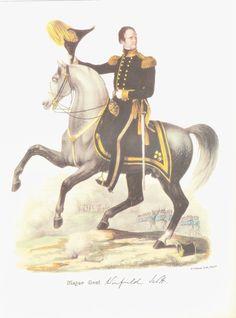 Maj General Winfield Scott   Military Print 1840s