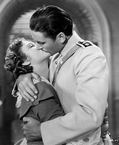 Errol Flynn and Olivia de Havilland in The Charge of the Light Brigade (1936)