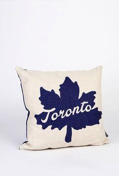 Toronto Leaf Icon Pillow - Main and Local Toronto, Logo Mugs, Boy Room, Pillow Inserts, Cotton Canvas, Bed Pillows, Leaves, Cool Stuff, Gifts