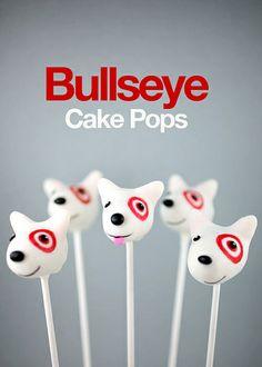 Target's Bullseye the dog cake pops, by Bakerella. Adorable!