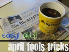 Easy, super-silly April fool's tricks From Teach Mama Funny April Fools Pranks, April Fools Day Jokes, Fool Me Once, The Fool, April Fools Tricks, Good Pranks, Holiday Fun, Holiday Ideas, Jokes Kids