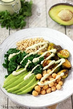Green Power Bowl With Creamy Cilantro Lime Sauce