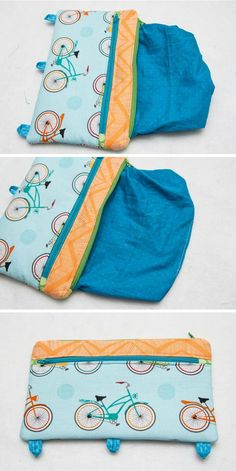 Three Ring Binder Pencil Case - Free Sewing Pattern and Tutorial. Back to School - The Cottage Mama.
