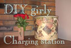 - Charging Station - Decoupage Collage -