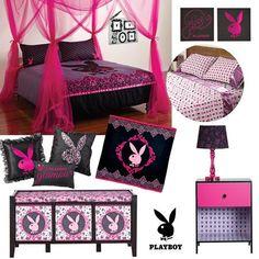 Leopard Print Bedding, Pink Bedding, Bedroom Set Designs, Home Room Design, Dream Bedroom, Girls Bedroom, Bedroom Decor, Playboy Logo, Bed Comforter Sets