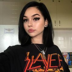 """Find and save images from the """"MAGGIE LINDEMANN"""" collection by sophia (eightiesmoon) on We Heart It, your everyday app to get lost in what you love. Maggie Lindemann, Aesthetic Hair, Bad Girl Aesthetic, Photographie Portrait Inspiration, Peinados Pin Up, Virgin Hair Bundles, Alternative Makeup, Hair Supplies, Daily Makeup"""