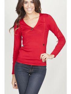 Yuka Paris V-Neck Knitted Sweater now @ Nimli