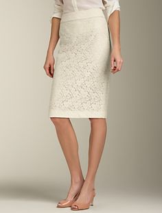 Talbots Dixie lace skirt