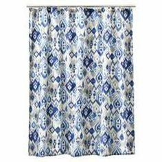 Amazon.com - Dawson Ikat Shower Curtain by Creative Bath Products - Bath Rugs