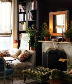 Dark & cozy living room
