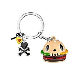tokidoki skull burger key chain $5