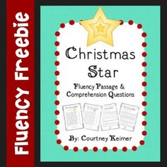 Free Christmas Fluency Passage and Comprehension Questions by Courtney Keimer 2nd Grade Reading Worksheets, Reading Intervention, Comprehension Questions, Presidents Day, Christmas Star, Veterans Day, 5th Grades, Memorial Day, Curriculum