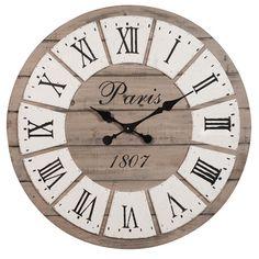Horloge en bois D 65 cm HONORÉ