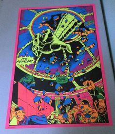 #Vintage Psyklop Hulk Third Eye Black Light Poster 1971 #MarvelComics