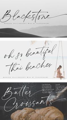 LUXURY TYPOGRAPHY № 28 --- Blackstone is a stylish modern calligraphy font with casual chic flair. Brush Script Font, Best Script Fonts, Modern Script Font, Cool Fonts, Typography Fonts, Typography Design, Calligraphy Fonts, Monogram Fonts, Free Monogram