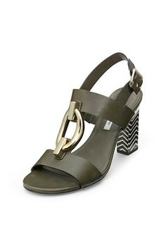 Padme Sutra Chain Detail Sandal In Olive