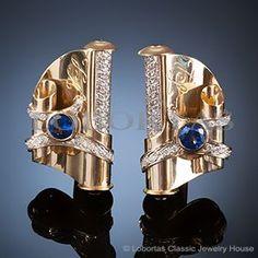 Сuff links :: gold, diamonds, sapphires :: The Scrolls of Wisdom :: Men's Jewelry & Jewels