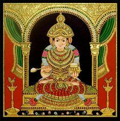 Tanjore Painting, Mysore, Painted Chairs, Indian Gods, Classical Art, Durga, Deities, Shiva, Krishna
