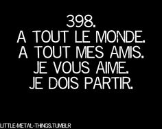 """A tout le monde - Megadeth I KNEW THIS SONG HAD FRENCH IN IT! I listen to it a lot on Bob Rocks, and I was like """"Why is he saying all the people, all my friend, I will love, I must go??"""" AHHH NOW I KNOW"""