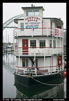 Newport Belle floating Bed and Breakfast. Newport, Oregon, USA (color)