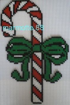 Christmas candy cane hama perler by marmotte88130