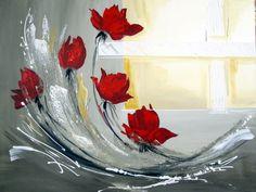 Click para ampliar Acrylic Painting Lessons, Acrylic Painting Canvas, Acrylic Art, Painting Techniques, Painting & Drawing, Watercolor Paintings, Canvas Art, Pinterest Arte, Flower Art
