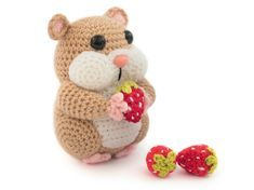"""Crochet the cute """"Hamster Helmut"""" with this free pattern. # crochet Crochet pattern for a hamster Crochet Patterns Amigurumi, Amigurumi Doll, Crochet Toys, Knitting Patterns, Afghan Patterns, Easy Knitting Projects, Crochet Projects, Crochet Mignon, Cute Hamsters"""