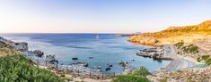 Panoramic Image of Sunrise at Clifs and Beach in Mediterranean Sea, Rhode, Greece. Panoramic Images, Mediterranean Sea, Greece Travel, Rhodes, Sunrise, Beach, Water, Outdoor, Gripe Water